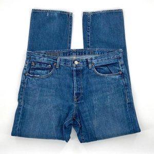 "J Crew ""Cowboy"" Jeans Vintage Indigo Wash Sz 37X32"